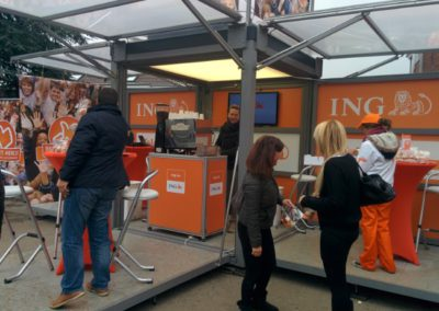 Guerilla action by ING bank -catered by Barista_gerard